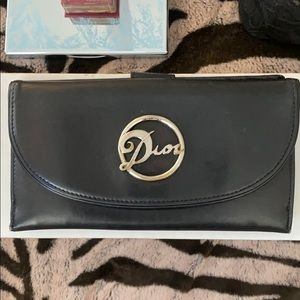 Dior leather wallet-AUTHENTIC.
